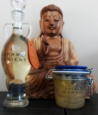 Huile Parfum Miel Gommage pierre d' alun