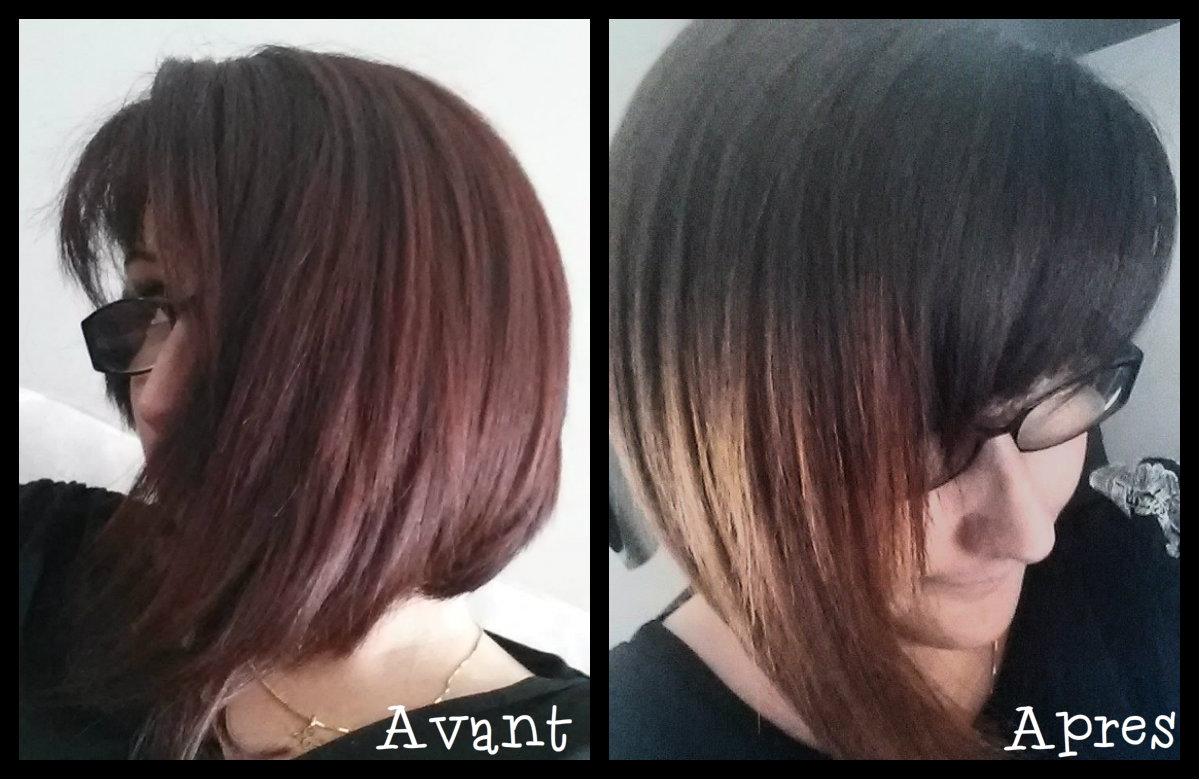 avant aprs ombre hair - Ombr Hair Maison Sur Cheveux Colors
