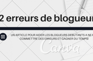 erreurs de blogueurs