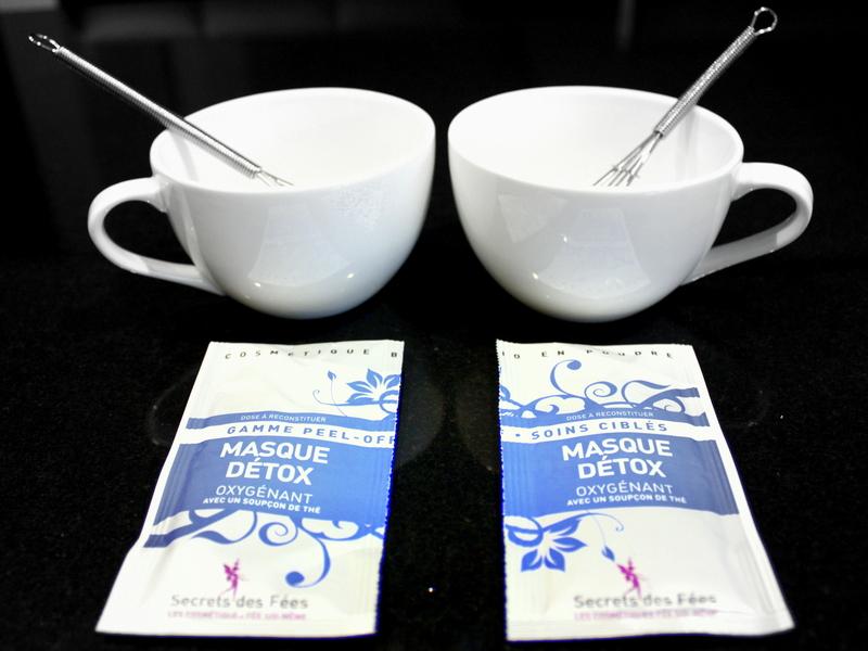 masque peel off détox au thé