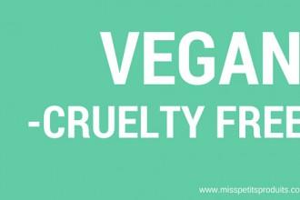 produits non testés sur les animaux et vegans