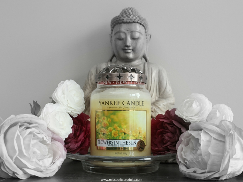 bougie yankee candles flowers in the sun