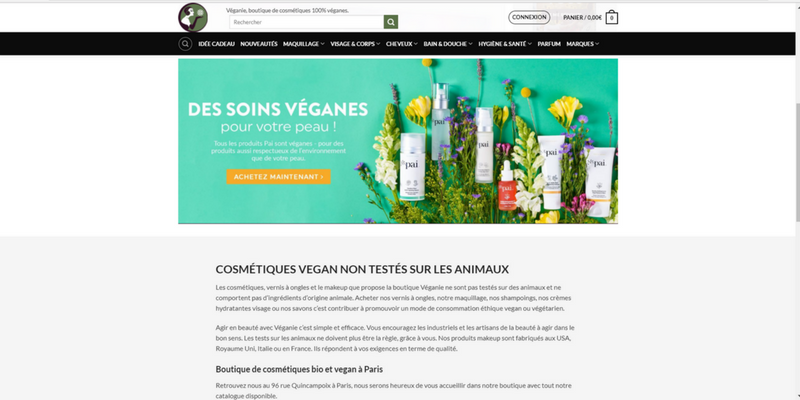 Veganie cosmétiques cruelty free et vegans