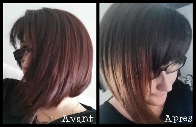 Avant après ombre hair
