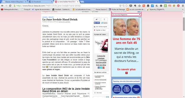 focus beaute page article