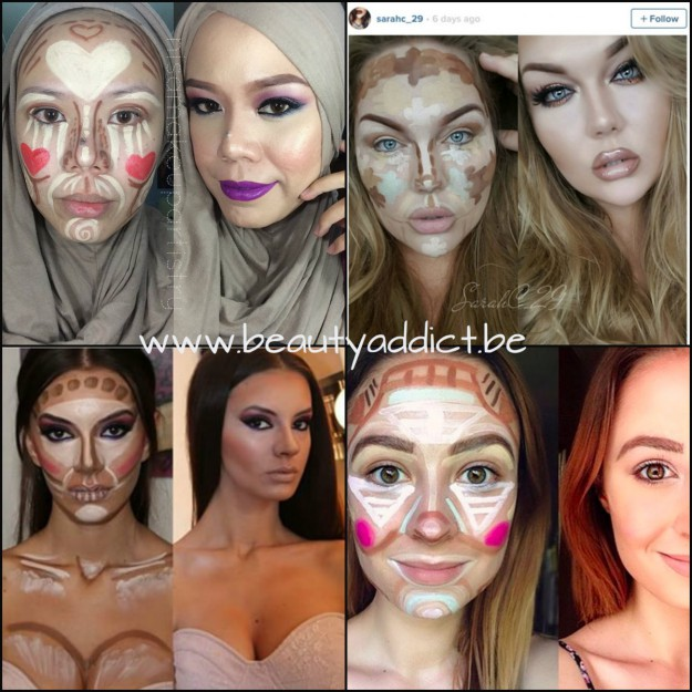 exemples clown contouring