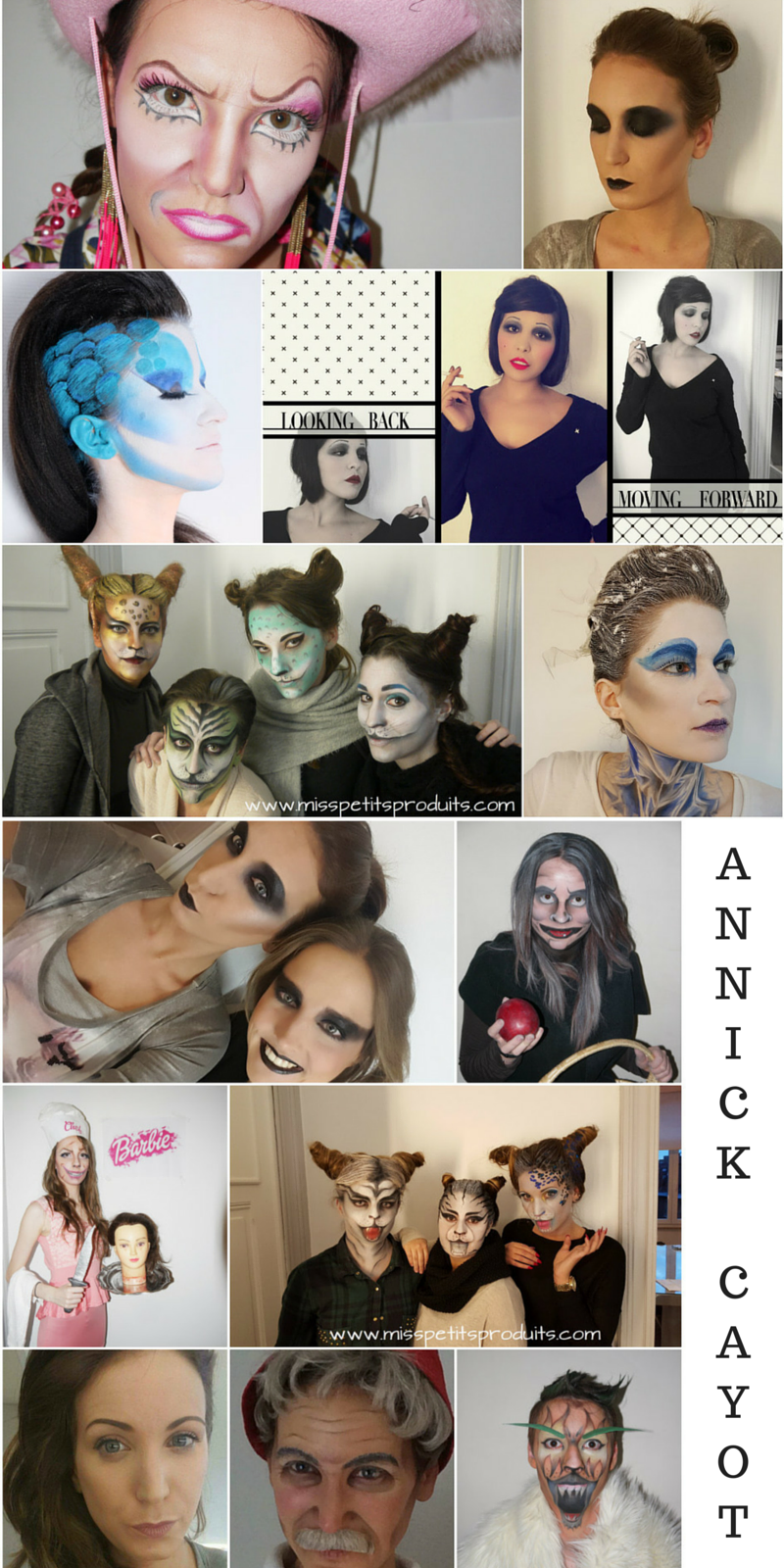 réalisations maquillage formation académie annick cayot